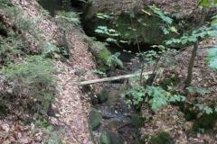 Kaňon u Chřibského vodopádu
