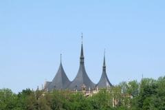Věže chrámu sv. Barbory