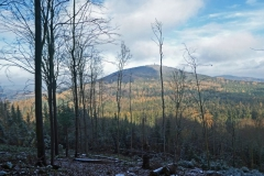 Pohled na bájnou horu Velký Blaník (638 m n. m.)