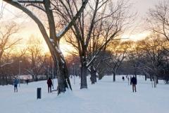 Západ slunce za vítkovským památníkem
